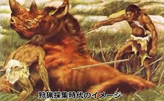 狩猟採集時代のイメージ