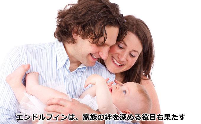 エンドルフィンは家族の絆を深める役目も果たす