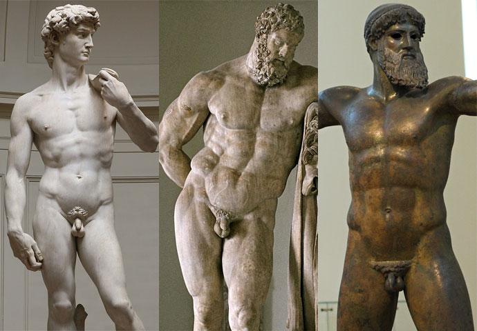 世界の有名な男性の彫刻