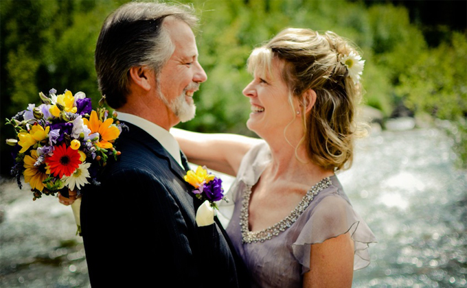 老夫婦の結婚式